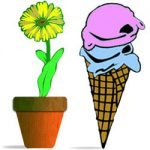 Flower and icecream cone